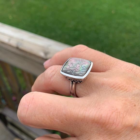 R2389 Silpada fern leaf retired sterling ring